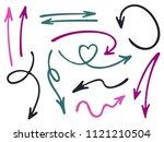hand drawn diagram arrow icons... | Shutterstock .eps vector #1121210504