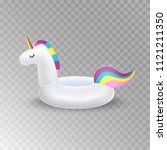 unicorn inflatable swimming... | Shutterstock .eps vector #1121211350