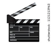opened realistic cinema or film ... | Shutterstock .eps vector #1121213963