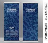 roll up business brochure flyer ... | Shutterstock .eps vector #1121214263