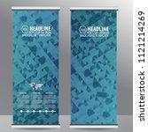 roll up business brochure flyer ... | Shutterstock .eps vector #1121214269