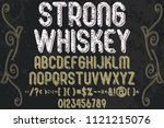 font alphabet script typeface... | Shutterstock .eps vector #1121215076