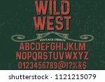 font alphabet typeface vintage... | Shutterstock .eps vector #1121215079