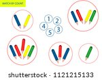 counting game for preschool... | Shutterstock .eps vector #1121215133