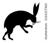 isolated vector silhouette of...   Shutterstock .eps vector #1121217563