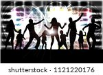 family silhouettes . abstract... | Shutterstock .eps vector #1121220176