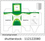 vector package template with... | Shutterstock .eps vector #112122080
