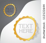 gold frame sticker | Shutterstock .eps vector #112122644