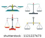 balance scales with weight and... | Shutterstock .eps vector #1121227673