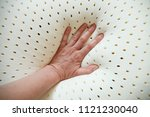 perforated latex mattress and... | Shutterstock . vector #1121230040