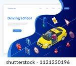 design concept driving school... | Shutterstock .eps vector #1121230196