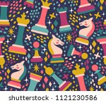 vector seamless pattern with... | Shutterstock .eps vector #1121230586