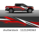 truck and car graphic... | Shutterstock .eps vector #1121240363