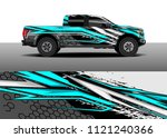 truck and car graphic... | Shutterstock .eps vector #1121240366