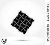 puzzle icon vector    vector...   Shutterstock .eps vector #1121240459