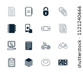 pad icon. collection of 16 pad... | Shutterstock .eps vector #1121240666