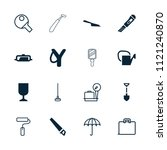 handle icon. collection of 16... | Shutterstock .eps vector #1121240870