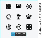chance icon. collection of 9...   Shutterstock .eps vector #1121242883