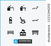 rest icon. collection of 9 rest ... | Shutterstock .eps vector #1121244203