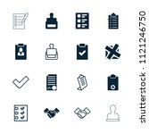 agreement icon. collection of... | Shutterstock .eps vector #1121246750