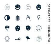 joy icon. collection of 16 joy... | Shutterstock .eps vector #1121246810