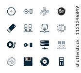 disk icon. collection of 16... | Shutterstock .eps vector #1121246849