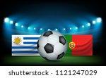 football stadium with the ball... | Shutterstock .eps vector #1121247029