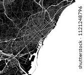 area map of barcelona  spain.... | Shutterstock .eps vector #1121248796