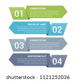 infographic template with four... | Shutterstock .eps vector #1121252036