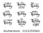 hello thursday.thursday weekend ... | Shutterstock .eps vector #1121252063