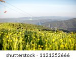 landscape view on the beautiful ... | Shutterstock . vector #1121252666