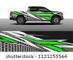 truck and car graphic...   Shutterstock .eps vector #1121255564