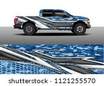 truck and car graphic...   Shutterstock .eps vector #1121255570