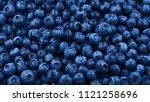 fresh blueberry background.... | Shutterstock . vector #1121258696
