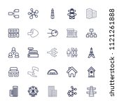 structure icon. collection of... | Shutterstock .eps vector #1121261888