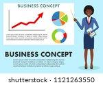 business concept. businesswoman ...   Shutterstock .eps vector #1121263550