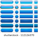 set of blank blue buttons for... | Shutterstock .eps vector #112126370