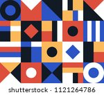 trendy geometric elements... | Shutterstock .eps vector #1121264786