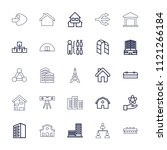 structure icon. collection of... | Shutterstock .eps vector #1121266184