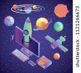 virtual reality technology... | Shutterstock .eps vector #1121266673