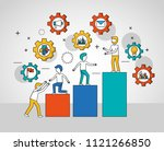 people teamwork concept | Shutterstock .eps vector #1121266850