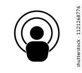 antenna icon vector icon.... | Shutterstock .eps vector #1121268776