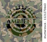 ambient on camo pattern | Shutterstock .eps vector #1121270663