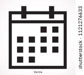 calendar isolated icon  vector  ...