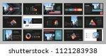 black abstract presentation...   Shutterstock .eps vector #1121283938