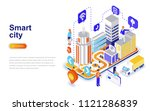 smart city modern flat design... | Shutterstock .eps vector #1121286839