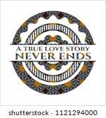 a true love story never ends... | Shutterstock .eps vector #1121294000