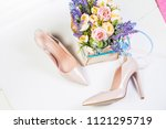 women's leather shoes  summer... | Shutterstock . vector #1121295719