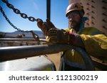 rigger high risk worker wearing ... | Shutterstock . vector #1121300219