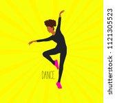 Silhouette Of A Dancing Girl O...
